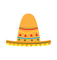 mexican hat icon vector image