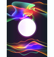 neon glowing page decoration colorfull backgronud vector image