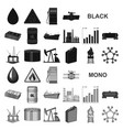oil industry black icons in set collection for vector image vector image