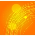Orange line abstraction vector image