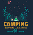 outdoor camping and adventure forest badge logo vector image vector image