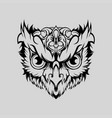 owl geometric head art vector image vector image