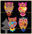 owl night shcool vector image vector image