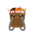 pannier with naughty children bad kids in box vector image vector image