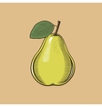 Pear in vintage style Colored vector image vector image