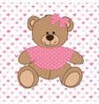 pink bear toy vector image