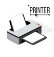 printer icon modern office ink laser vector image