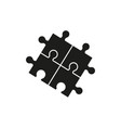 puzzel of line black icons game skill vector image