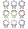 rosette decorations vector image vector image