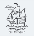 Sea adventure vector image