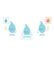 set of cartoon doodle water drop characters vector image vector image