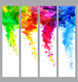 set of four banners abstract headers with colored vector image vector image