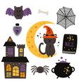 set of isolated magic design elements vector image