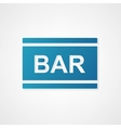sign bar blue vector image vector image