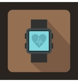 Smartwatch icon in flat style vector image vector image