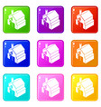 smithy icons set 9 color collection vector image vector image