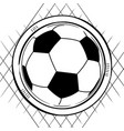 soccer football sketch on white vector image vector image