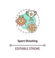 sport shooting concept icon vector image