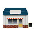 store or cafe front view on white background vector image