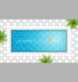 swimming pool design vector image vector image