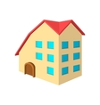 Three-storey house cartoon icon vector image vector image