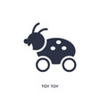toy icon on white background simple element vector image vector image