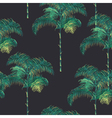 tropical palm trees background vector image