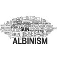 what eye problems result from albinism text word vector image vector image