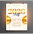 white 2020 new year party celebration design vector image vector image
