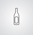 wine bottle outline symbol dark on white vector image vector image