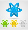 atom set symbol on a white background vector image