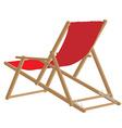 Beach chair vector image