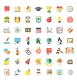 Flat Colorful School Subjects Icons Isolated on vector image