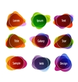 Set of colorful abstract banners Graphic banners vector image