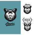 Bear head monochrome vintage vector image