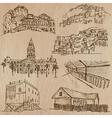 Architecture Famous places - Hand drawn
