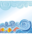 Beautiful sea wave vector image vector image