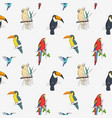 beautiful tropical seamless pattern with different vector image vector image
