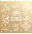 Big set of Christmas calligraphic design elements vector image vector image