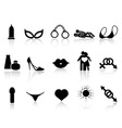 black sex icons set vector image vector image