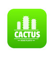 botany cactus icon green vector image vector image