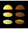 bun sandwich On a black background vector image