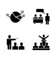 business audience simple related icons vector image vector image