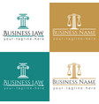 business law logo column vector image vector image
