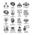 business management icons pack 31 vector image vector image