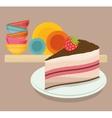 Cake design vector image vector image