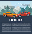 car accident infographics vector image vector image