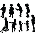 children collection vector image vector image
