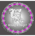 christmas holiday light lantern vector image vector image