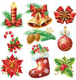 Christmas objects vector image vector image